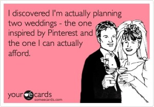 Actual wedding vs Pinterest wedding